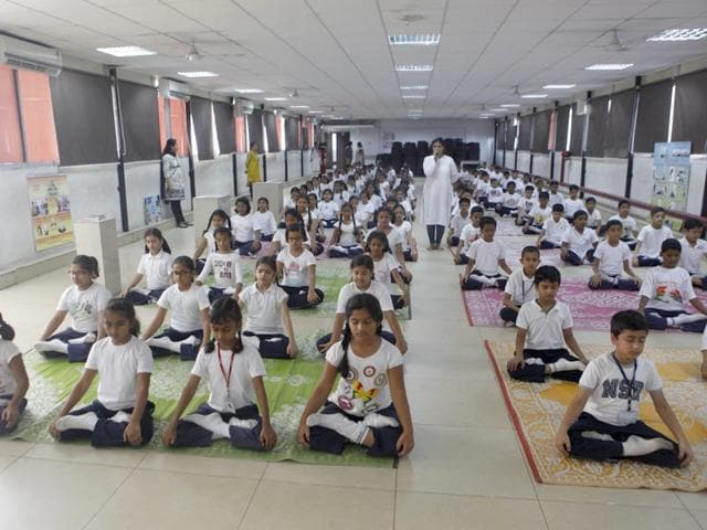 Lilavatibai-Podar-School-Santacruz-has-roped-in-four-to-five-instructors-from-a-private-yoga-institute-to-hold-workshops-for-students-and-teachers-Vidya-Subramanian-HT-photo