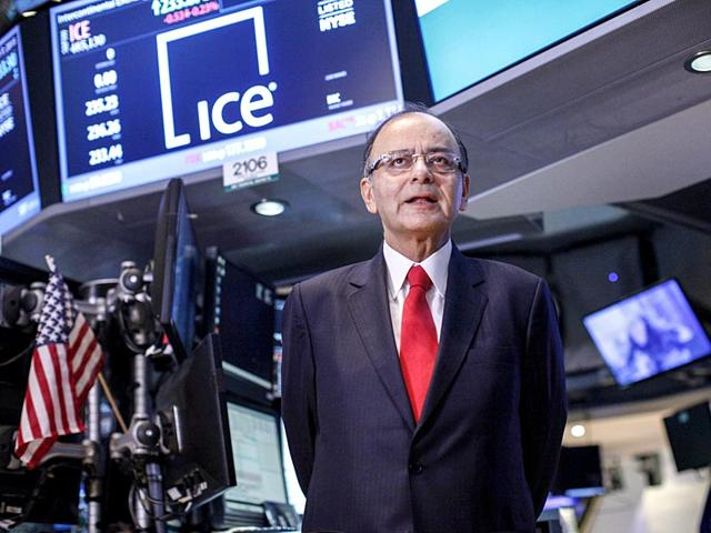 Finance-minister-Arun-Jaitley-visits-the-main-trading-floor-at-the-New-York-Stock-Exchange-in-New-York-AFP-Photo