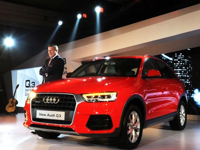 Joe-King-Head-Audi-India-introduced-Audi-Q3-model-car-in-Indian-market-in-New-Delhi-India-on-Thursday-June-18-2015--The-Audi-Q3-Car-MMI-Navigation-system-and-parking-system-plus-with-rear-View-Camera-Infotainment-system-includes-audi-music-interface-a-20GB-Jukebox-tow-SDHC-slots-Bluetooth-connectivity-and-streaming-and-New-Audi-Q3-is-priced-at-INR-28-99-000-Ex-shwroom-new-Delhi-And-Mumbai-the-New-Audi-Q3-is-available-at-all-audi-dealerships-across-India-Photo-Hindustan-Times