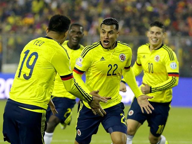 Colombia-s-Jeison-Murillo-22-celebrates-after-scoring-the-opening-goal-during-the-Copa-America-Group-C-soccer-match-against-Brazil-at-the-Monumental-stadium-in-Santiago-Chile-on-June-17-2015-AP-Photo