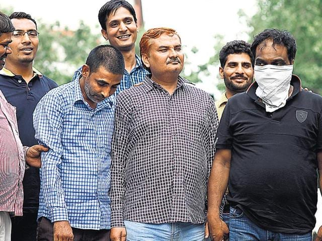 Four-people-were-arrested-on-Tuesday-who-helped-people-to-get-admissions-on-the-basis-of-forged-documents-HT-Photo
