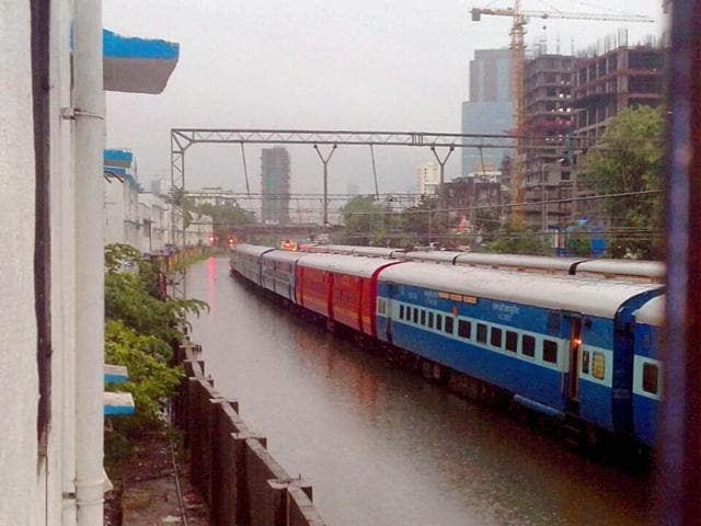 Waterlogging has stopped local trains in their tracks (HT Photo)