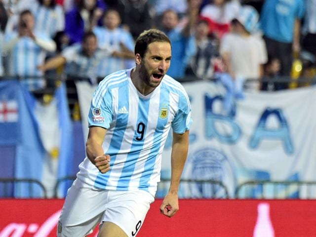 Argentina-forward-Gonzalo-Higuain-celebrates-after-scoring-against-Jamaica-during-their-2015-Copa-America-football-championship-match-in-Vina-del-Mar-AFP-Photo