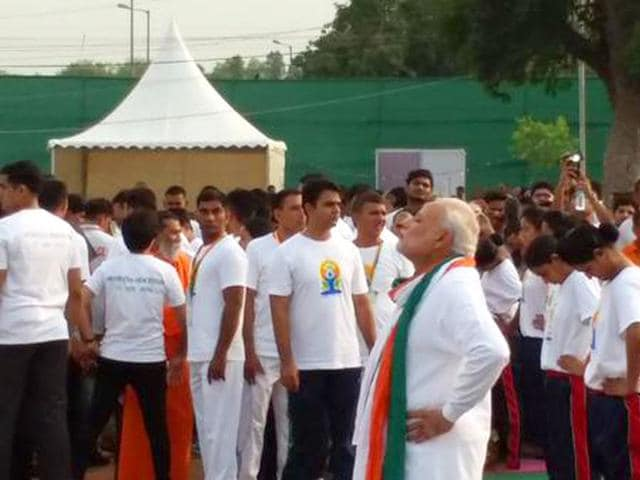 Prime-Minister-Narendra-Modi-joined-nearly-37-000-fellow-participants-at-Rajpath-on-Sunday-to-mark-the-International-Day-of-Yoga-Ajay-Aggarwal-HT-Photo