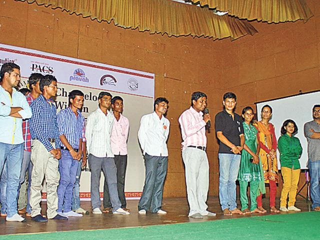 Young-leaders-of-project-Changelooms-share-their-experiences-at-an-event-held-at-Gandhi-Bhavan-in-Bhopal-on-Saturday-Bidesh-Manna-HT