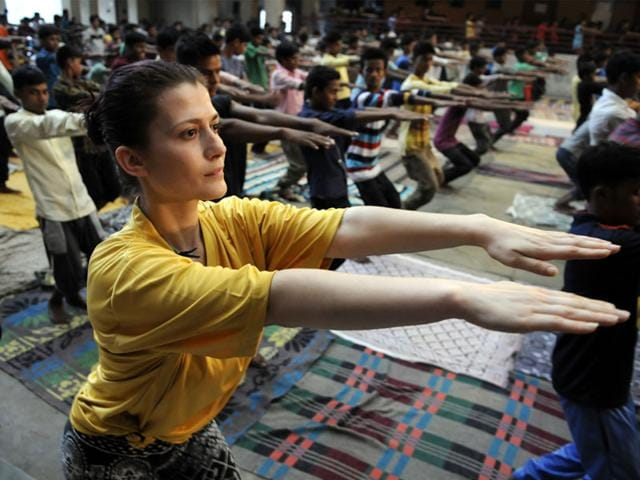 Foreigners-from-63-countries-have-come-to-learn-and-teach-yoga-at-Yoga-Parmanand-Ashram-in-Indore-Arun-Mondhe-HT-photo