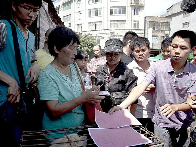 Yang-Xiaoyun-second-from-left-going-around-buying-some-100-dogs-at-a-market-in-Yulin-AFP-Photo
