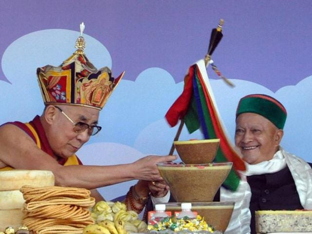 Tibetan-spiritual-leader-the-Dalai-Lama-during-his-80th-birthday-celebration-at-Tsuglagkhang-temple-in-Mcleodganj-on-Monday-Shyam-Sharma-HT