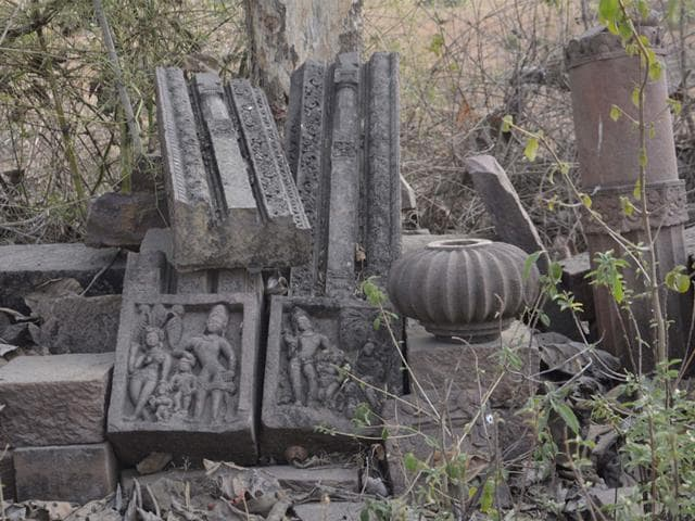 Some-of-the-remains-of-a-temple-belong-to-early-Gupta-period-in-Satna-HT-photo