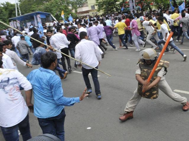 Police-use-water-cannon-to-disperse-NSUI-protesters-demonstrating-against-irregularities-in-DMAT-exam-in-Bhopal-on-Tuesday-Praveen-Bajpai-HT