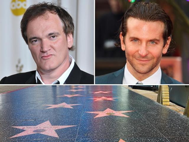 Hollywood Walk of Fame,Bradley Cooper,Quentin Tarantino