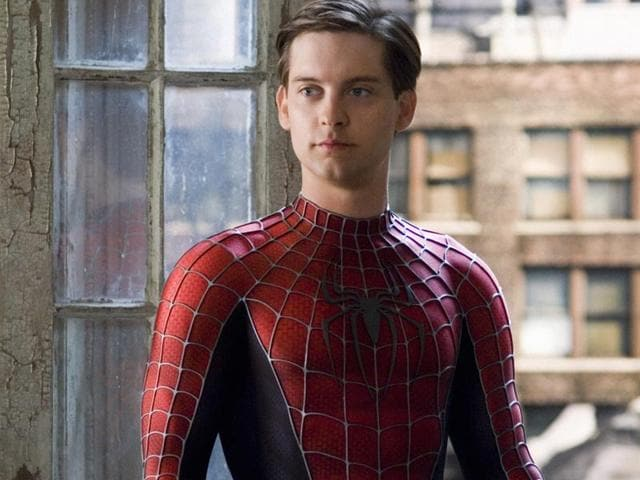 American-actor-Tobey-Maguire-played-Spider-Man-in-three-films-before-he-was-replaced-by-Garfield-for-a-rebot