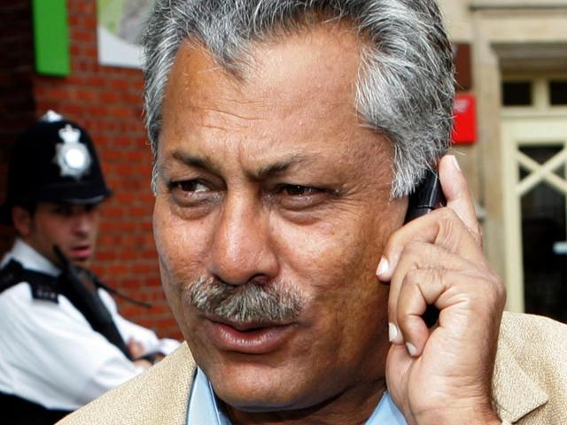 In-this-August-21-2006-file-photo-former-Pakistan-Test-cricketer-Zaheer-Abbas-speaks-on-the-phone-as-he-walks-towards-the-team-bus-at-the-Oval-in-London-England-Abbas-has-been-announced-as-the-new-president-of-the-ICC-filling-in-the-spot-left-vacant-after-the-resignation-of-Bangladesh-s-Mustafa-Kamal-AP-Photo