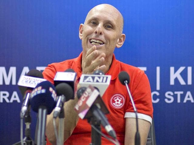 In-this-March-11-2015-file-photo-India-head-coach-Stephen-Constantine-addresses-a-press-conference-on-the-eve-of-their-2018-World-Cup-qualifying-match-against-Nepal-in-Guwahati-India-Constantine-has-suggested-strengthening-the-team-with-Indian-origin-players-settled-abroad-as-Asian-national-teams-look-overseas-for-players-AP-Photo