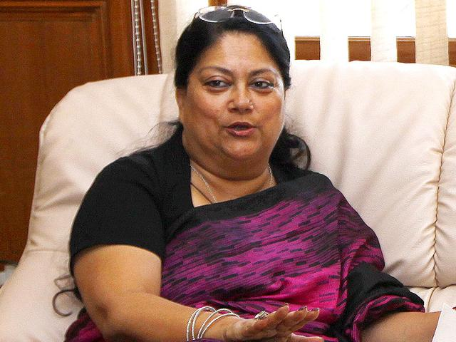 Rajasthan-chief-minister-Vasundhara-Raje-left-for-New-Delhi-on-Saturday-morning-to-attend-a-Niti-Aayog-meet-ANI-Photo