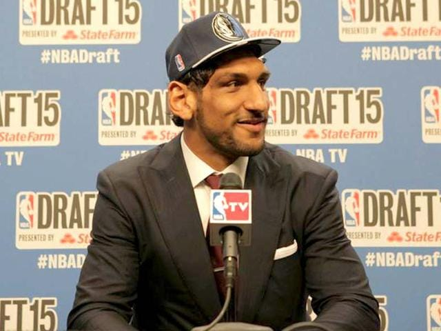 c07cb3d1f Satnam-Singh-Bhamara -at-a-press-conference-following-his-selection-by-the-Dallas-Mavericks-in-the-2015- NBA-Draft-Singh-created-history-by-becoming-the-first ...