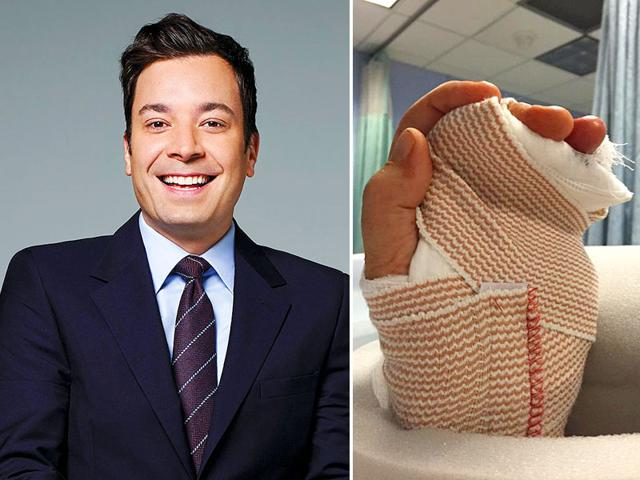 Jimmy-Fallon-and-the-picture-he-tweeted-of-his-injured-hand
