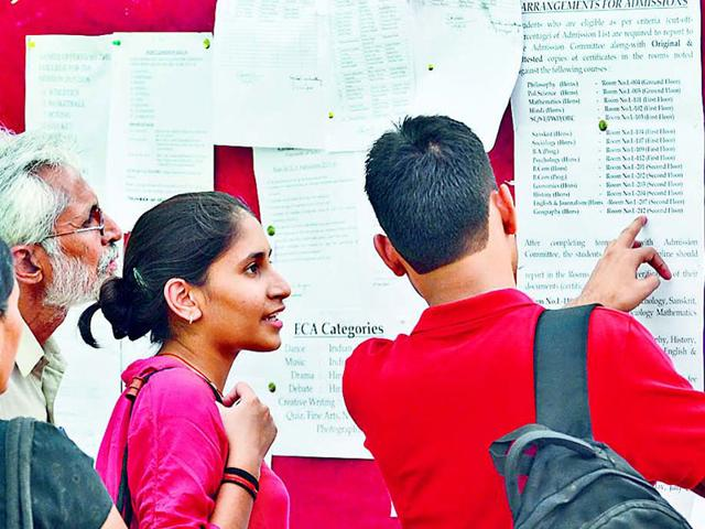 Delhi University,Admissions,First cut-off list