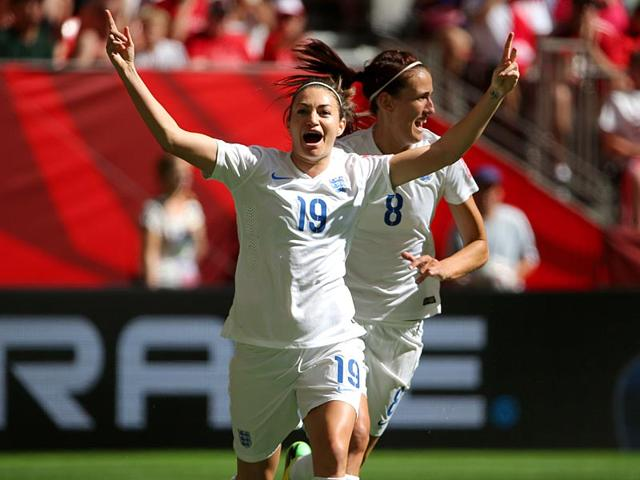 England-forward-Jodie-Taylor-19-celebrates-with-midfielder-Jill-Scott-8-after-scoring-against-Canada-during-the-first-half-in-the-quarter-final-of-the-Fifa-2015-Women-s-World-Cup-at-BC-Place-Stadium-Vancouver-on-June-27-2015-England-won-2-1-Reuters-Photo