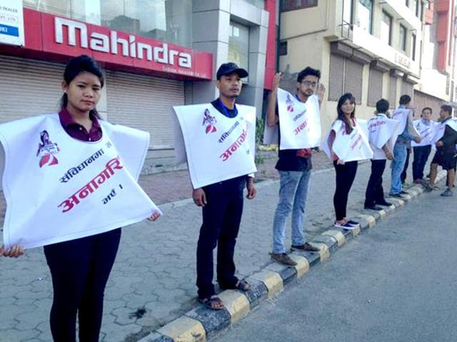 A-human-chain-to-protest-against-the-Nepal-constitution-s-stand-on-citizenship-Photo-Twitter