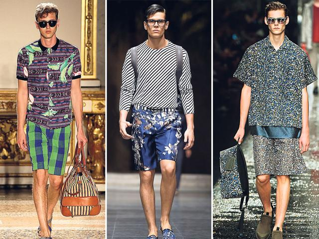 Checkered-Bermuda-shorts-floral-prints-and-print-on-print-shorts-are-in-this-season-Photos-AP-and-AFP