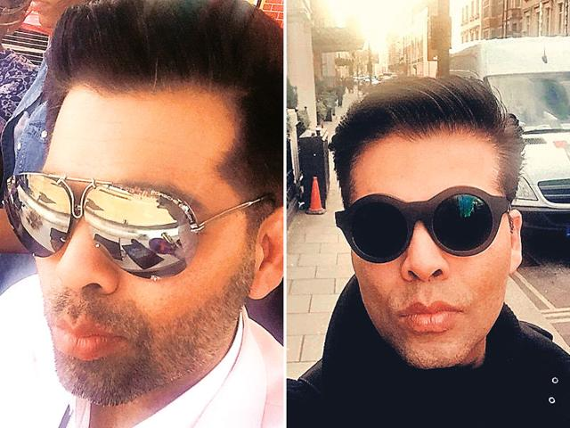 Karan-Johar-Fierce-poutThought-pout-was-women-s-birthright-Check-out-filmmaker-Karan-Johar-As-soon-as-the-selfie-cam-is-on-KJo-gets-his-swag-on-Whether-he-is-wedged-between-the-prettiest-of-ladies-or-making-a-statement-out-of-a-pair-of-designer-shades-the-fierce-pout-is-Johar-s-mainstay-