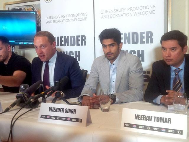 Boxer Vijender Singh turning pro,2008 Olympic bronze medallist,Queensbury Promotions boxing league