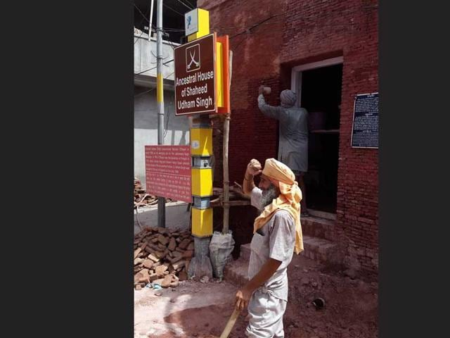 Renovation-going-on-at-Saheed-Udham-Singh-s-house-in-Sangrur-HT-Photo