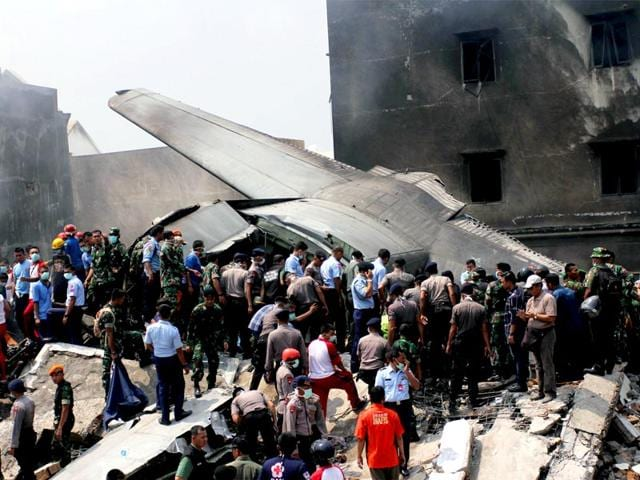 Security-forces-and-rescue-teams-examine-the-wreckage-of-the-Indonesian-military-C-130-Hercules-transport-plane-crash-Reuters-Photo
