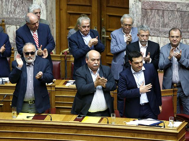 Carrying-banners-calling-for-a-NO-vote-in-the-forthcoming-referendum-on-bailout-conditions-set-by-the-country-s-creditors-protesters-gather-in-front-of-the-Greek-parliament-in-Athens-AFP-Photo