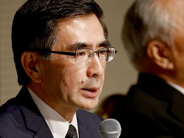 Suzuki-Motor-s-new-President-Toshihiro-Suzuki-L-speaks-during-a-news-conference-as-CEO-Osamu-Suzuki-listens-in-Tokyo-Reuters-Photo