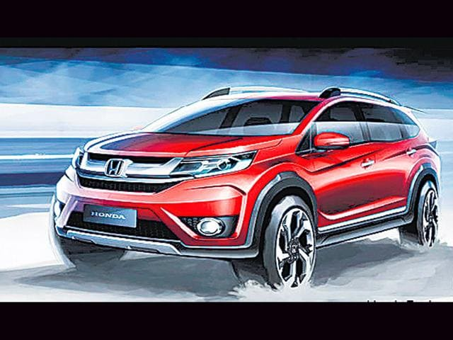 A-sketch-of-Honda-s-upcoming-compact-SUV-BR-V