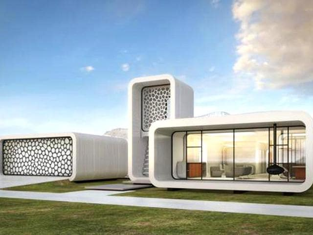 Dubai,3D printed office,3D printing