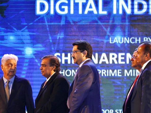 Captains-of-industry-at-the-launch-of-Digital-India-Week-Ajay-Aggarwal-HT-Photo
