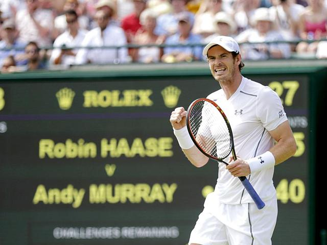 Andy-Murray-of-Britain-celebrates-after-winning-his-second-round-men-s-singles-match-against-Robin-Haase-of-the-Netherlands-at-the-Wimbledon-Tennis-Championships-in-London-on-July-2-2015-Reuters-Photo