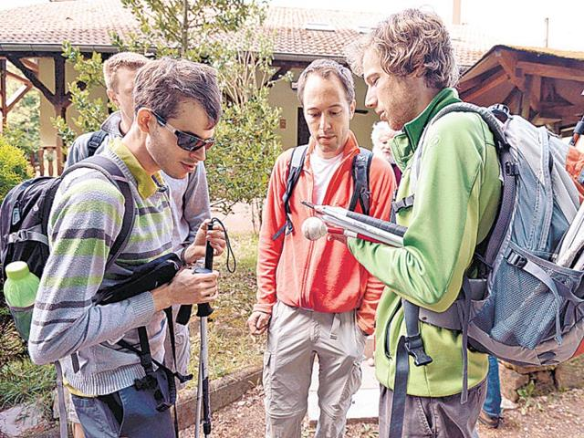 People-with-visual-impairment-participate-in-a-hike-as-they-use-a-GPS-device-with-voice-navigation-in-Reipertswiller-France-AFP-Photo