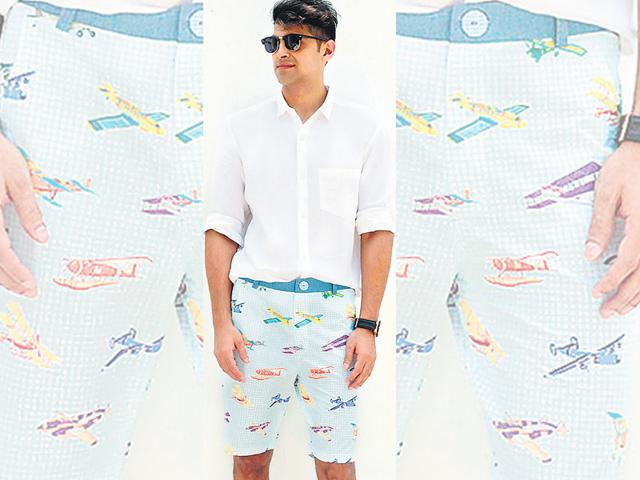 Tips-for-all-those-men-looking-to-bring-out-their-shorts-on-a-rainy-day-QuirkBox-AirplaneColour-Men-s-Shorts-Rs-2-400