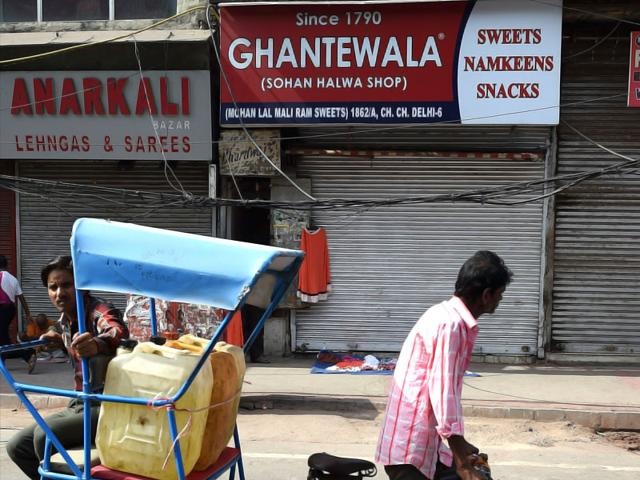 Owners-of-Ghantewala-sweets-Sushant-Jain-and-Sonia-Jain-during-the-interview-with-Hindustan-Times-in-Chandini-Chowk-in-New-Delhi-India-HT-Photo-Sanjeev-Varma