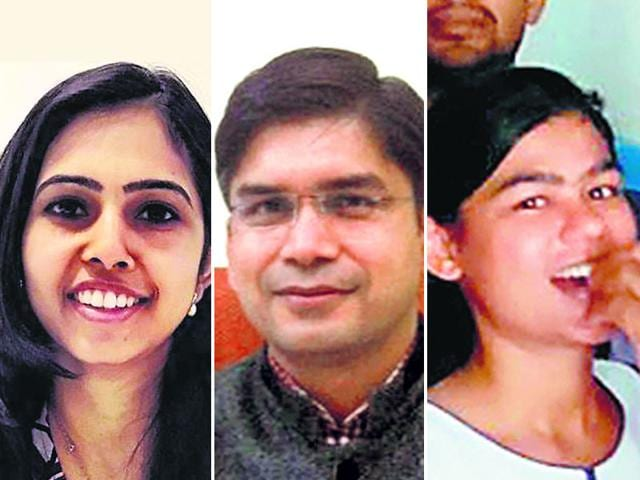 A-combination-picture-of-Kuhuk-Gupta-Rajendra-Pensiya-and-Pooja-Kumari-Parth-Five-candidates-from-Rajasthan-clear-the-UPSC-exam-HT-Photo