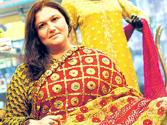 Designs-with-mukaish-work-from-Rangmahal-in-Lahore-to-digital-prints-of-India-Gate-Pakistani-designer-Huma-Nassr-is-all-set-to-unleash-designs-from-across-the-border-in-the-city