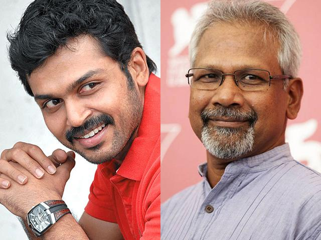 Mani-Ratnam-is-a-leading-Indian-filmmaker-who-works-primarily-in-the-Tamil-and-Hindi-film-industries-while-Karthi-left-is-a-Tamil-actor-known-for-hit-films-like-Madras-and-Paruthi-Veeran