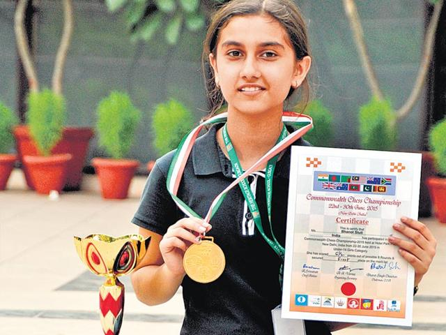 Stuti-Bhanot-who-won-the-Gold-medal-in-under-14-category-of-Commonwealth-Chess-Championship-HT-Photo