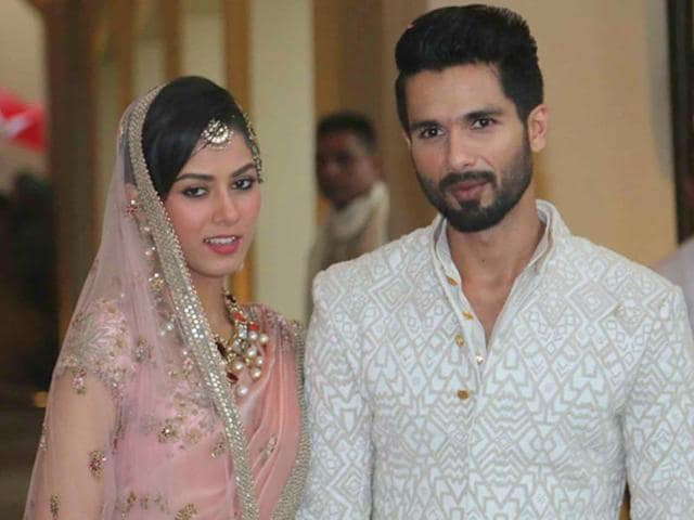Only close friends were invited to Shahid Kapoor