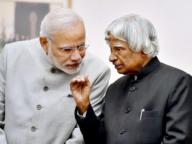 File-photo-of-former-president-APJ-Abdul-Kalam-with-Prime-Minister-Narendra-Modi-in-New-Delhi-in-Jan-2015-Kalam-passed-away-in-Shillong-at-the-age-of-83-PTI-Photo