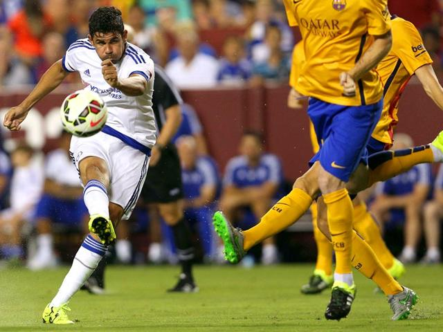 Diego-Costa-left-of-Chelsea-shoots-against-Barcelona-in-the-second-half-during-the-International-Champions-Cup-North-America-in-Landover-Maryland-on-July-28-2015-Chelsea-won-4-2-in-a-penalty-shootout-AFP-Photo