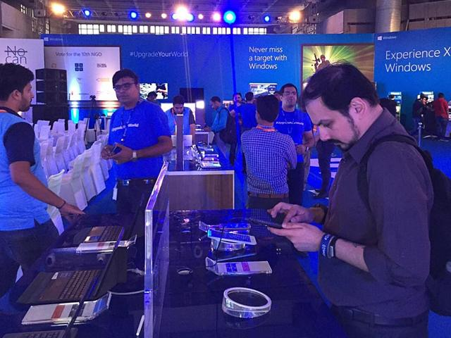Tech-enthusiasts-play-with-the-Windows-10-devices-at-the-launch-of-Microsoft-s-latest-operating-system-in-New-Delhi-HT-Photo