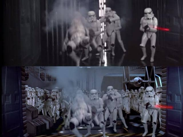 Star Wars effects,Star Wars,Star Wars before and after