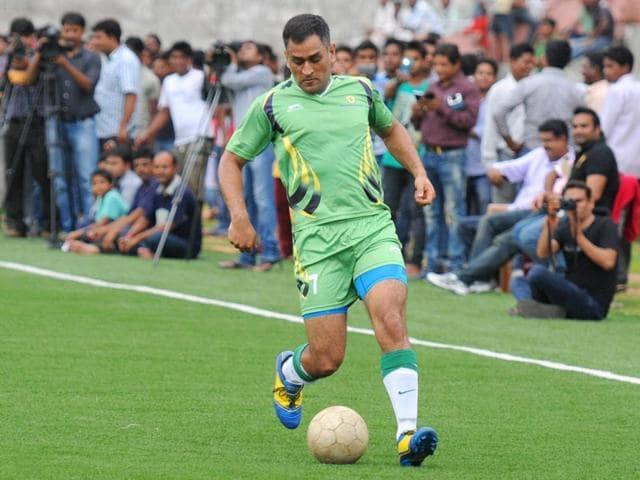Indian-ODI-captain-Mahendra-Singh-Dhoni-plays-a-football-game-in-Ranchi-Parwaz-Khan-HT-Photo