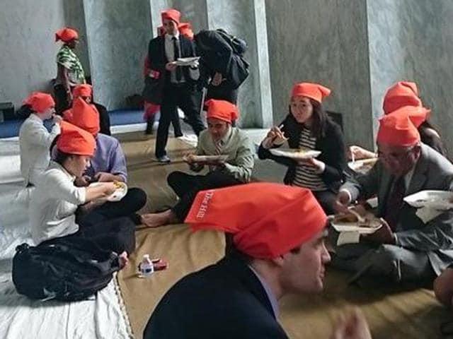 People-partaking-langar-at-Capitol-Hill-in-Washington-HT-Photo