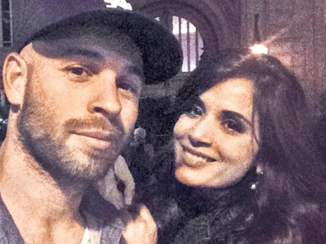 Richa-Chadha-with-Franck-Gastambide